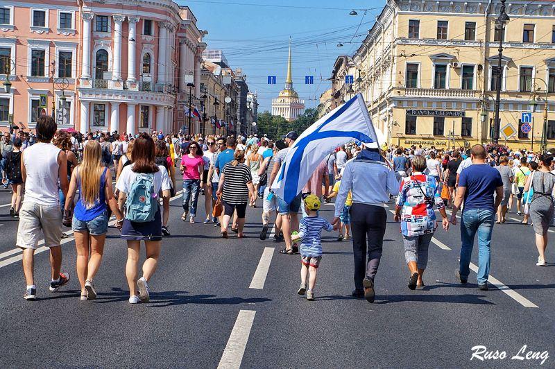 Rusia festeja el día de la Marina
